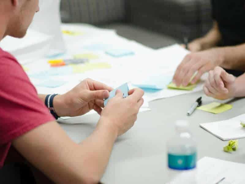 session de brainstorming et co création